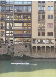 italian in Italy, on the Arno river