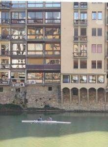 italian in Italy, on the Arno river