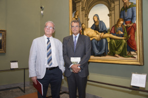 Ferragamo, opening og the new Uffizi rooms, Florence - Italy, 12 September 2015. Antonio Natali, Ferruccio Ferragamo