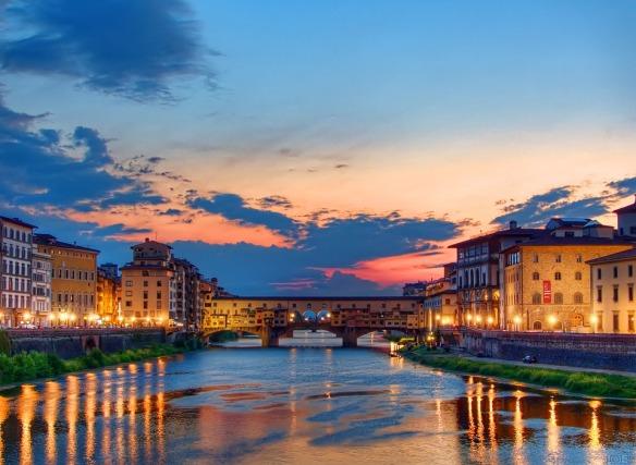 Abenddämmerung-Florenz
